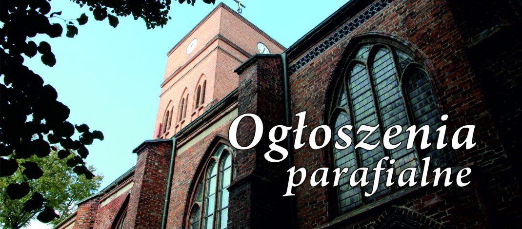 OGŁOSZENIA  PARAFIALNE  – 28 NIEDZ. zw. – 15.10.2017